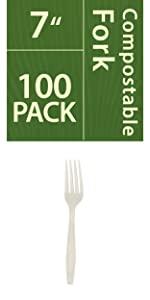 compostable fork white