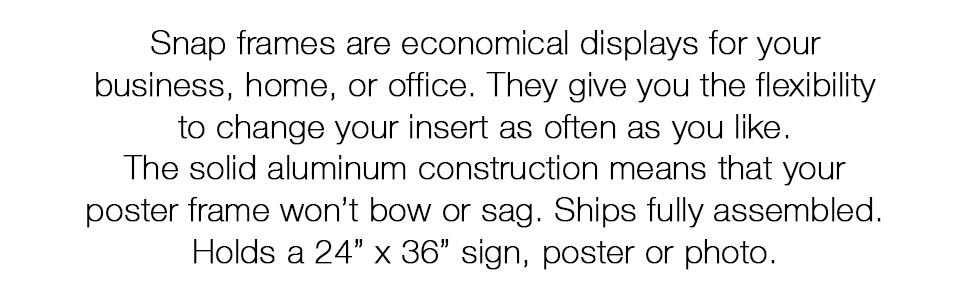 wholesale poster frames, metal poster frame, 24x36 poster frame, front opening picture frame