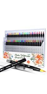 48 Colors Watercolor Brush Markers