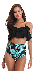 Ruffle Halter Swimsuit