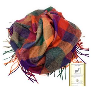 throw plaid bundled alpaca wool throws