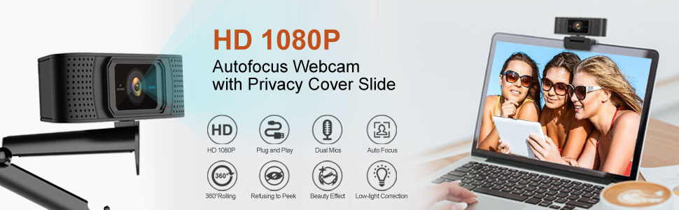 webcam with cover slide