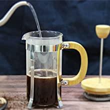 french coffee press single serve BAMBOO