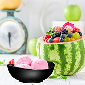 Porcelain Bowls - 10 Ounce for Ice Cream Dessert, Small Side Dishes