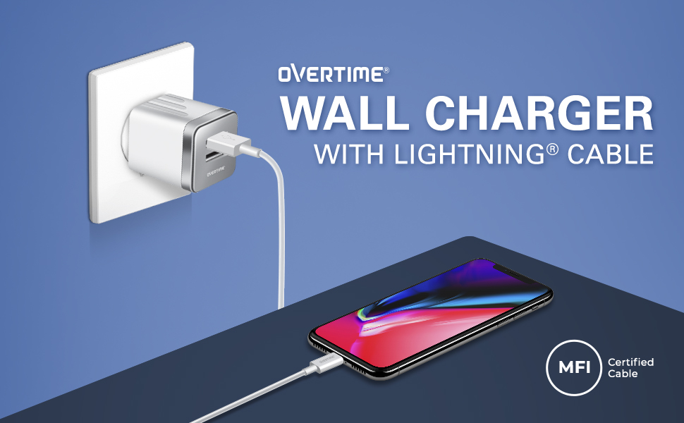 dual charger adapter usb wall for ipad fast iphone rapid charge lightning cable apple mfi certified