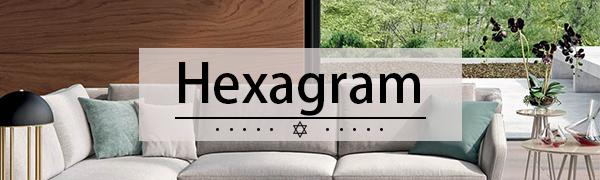 Hexagram Pillow Covers
