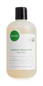 Bamboo Bergamot, Body Wash, Organic, DANI, Sulfate-Free, Pthalate-free, nourishing, natural, clean