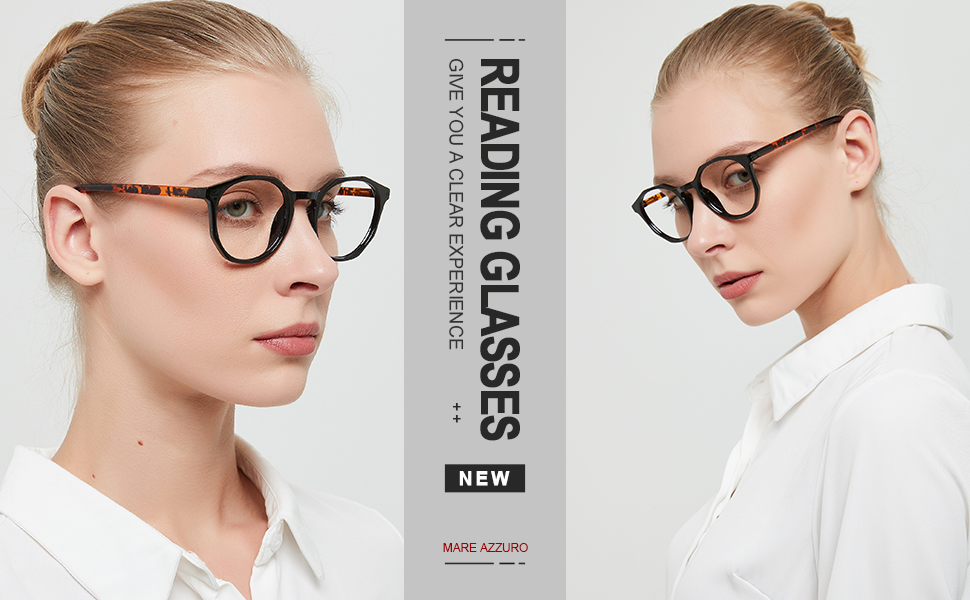 Stylish reader for women round reading glasses black 1.0 1.5 2.0 2.5 3.0 3.5 red yellow blue pink