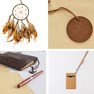Round Faux Leather Suede Cord for Dream Catcher Tag Notebook Lanyard