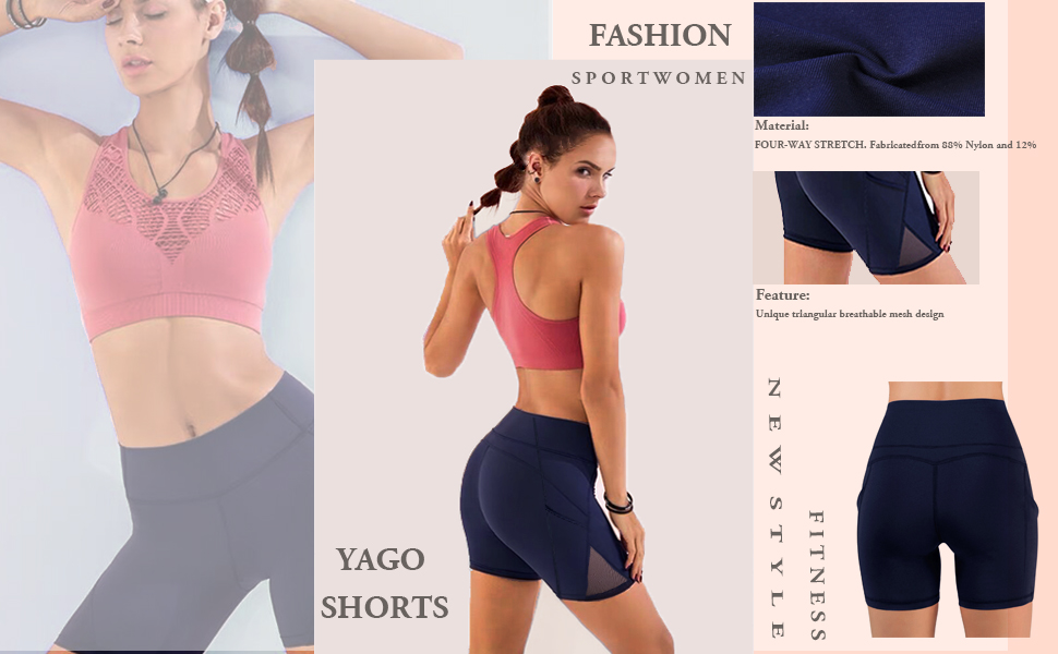 Women Workout Yoga Shorts - Premium Soft Stretch Cheerleader Running Dance Volleyball Short Pants