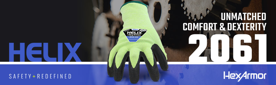 hexarmor helix 2061 cut-resistant seamless knit safety gloves