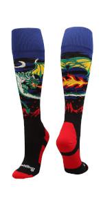 Boys Youth Soccer Socks Dragon