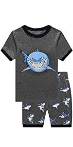 Toddler Boys Tops Dinosaur Print Tees Kids Clothes Summer Short Sleeves T-Shirts