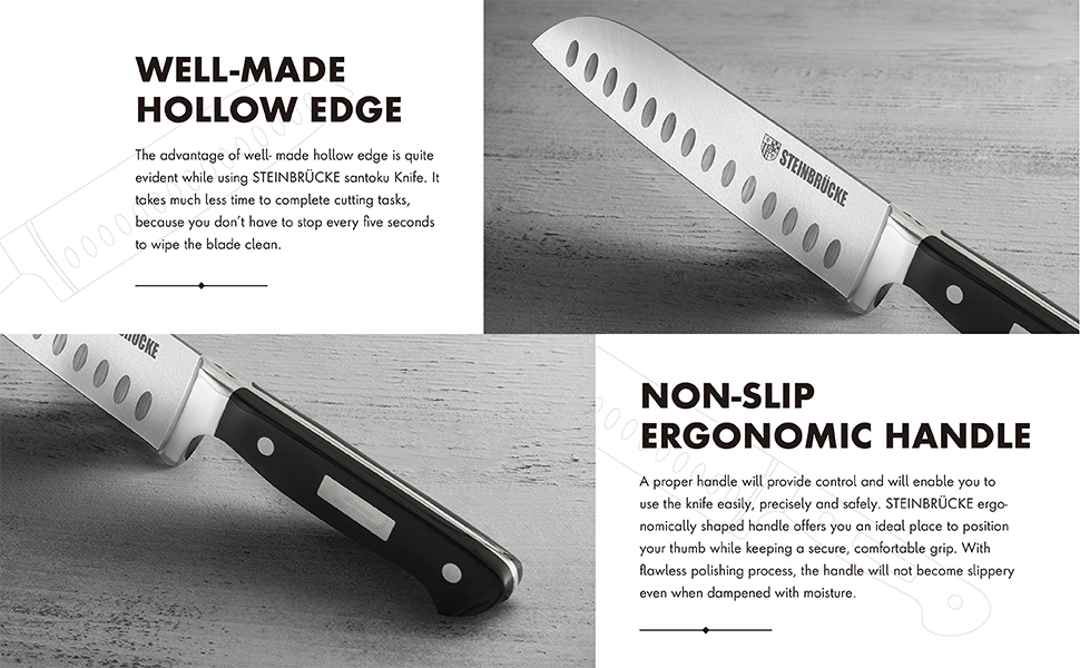 Well-made Hollow Edge and Non-Slip Ergonomic Handle