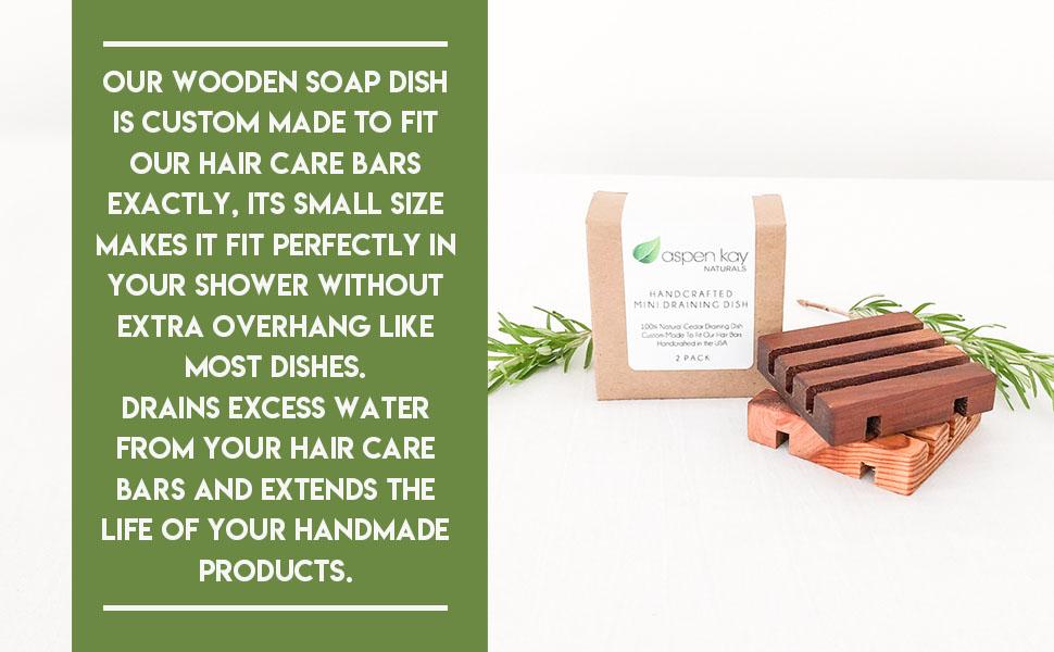 Mini Wood Soap Dish