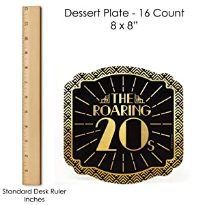 Roaring 20's with Gold Foil Dessert Plate