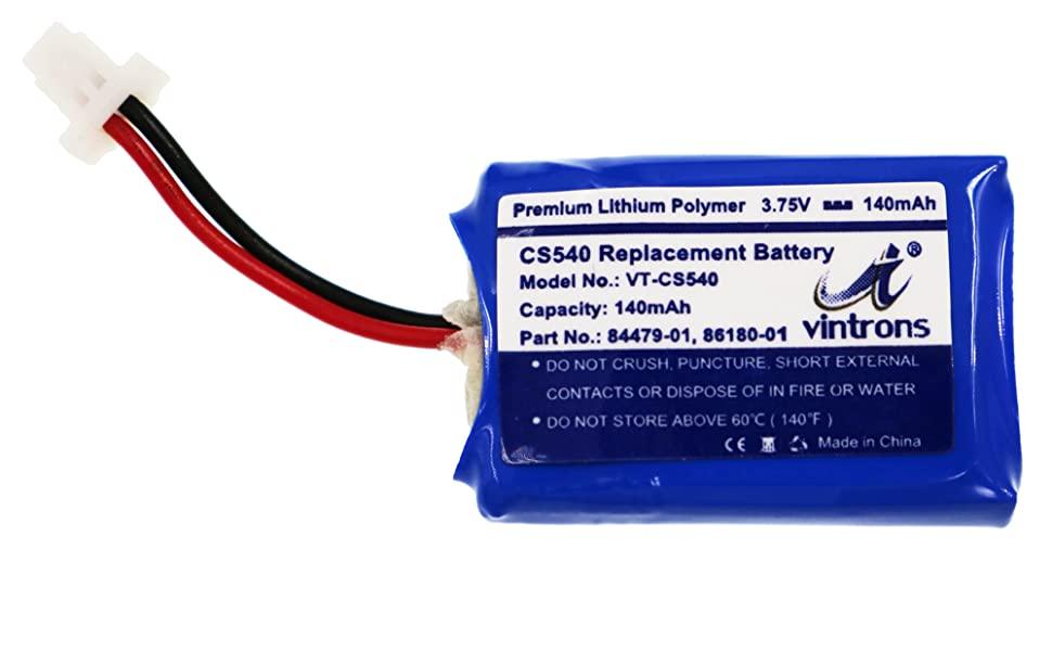 86180-01, 84479-01, CS540, C054 Battery for Plantronics CS540 Wireless Headset
