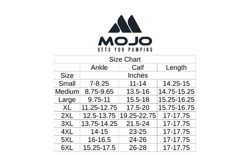 mojo compression socks plus size wide calf
