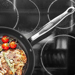 cookware set induction pan nonstick frying pan skillet pancake crepe dishwasher oven black