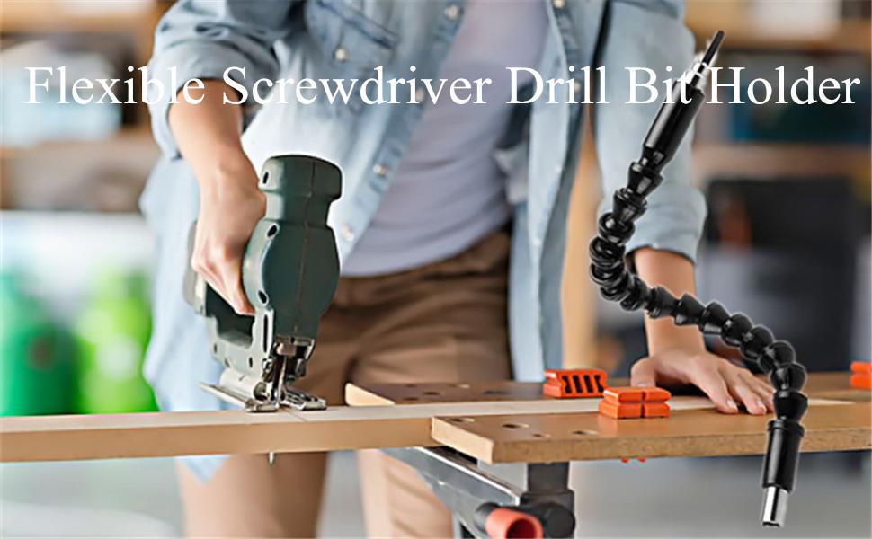 Flexible Extention Screwdriver Drill Bit Holder
