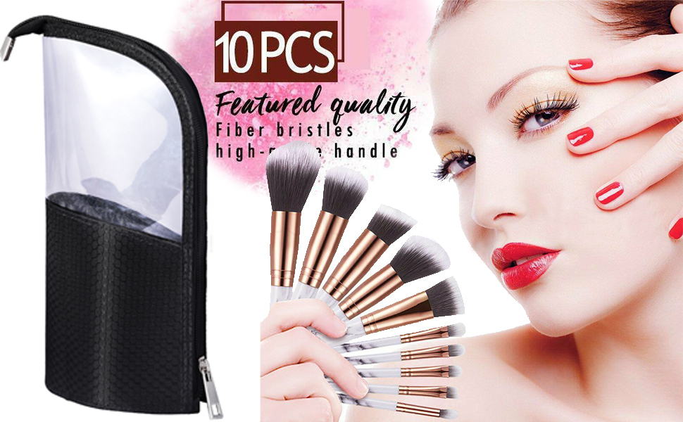 makeup brushes set with case