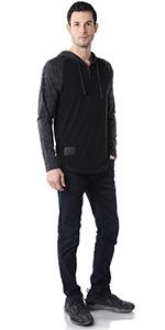 basic ringer raglan street sleepwear classic vintage retro urban hoodie