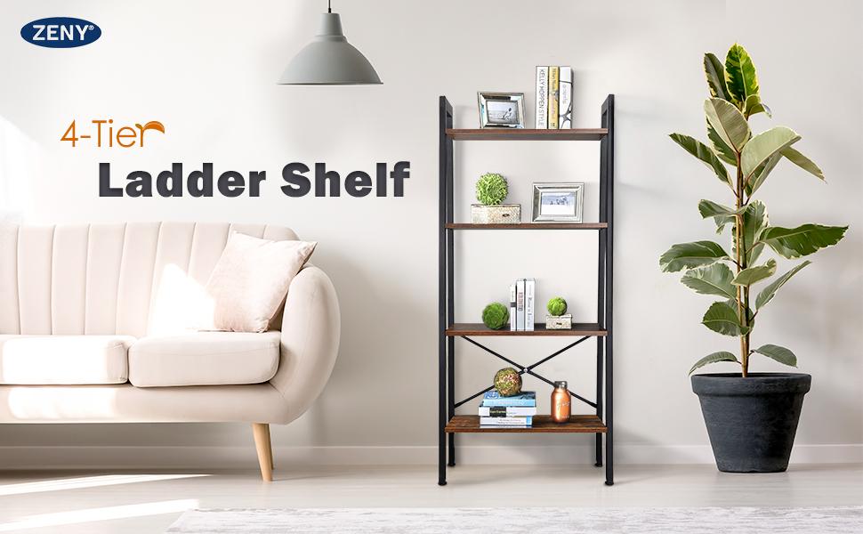 ZENY 4 Tiers Ladder Shelf