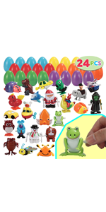 24 pc Prefilled Easter Eggs Filled with Wind-Up Toys