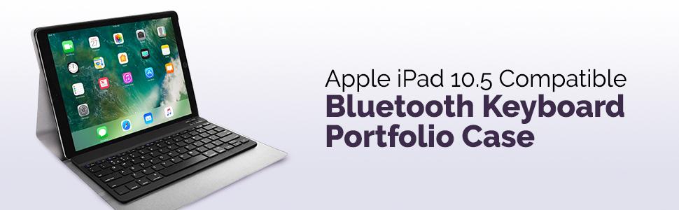 Apple iPad 10.5 Compatible Bluetooth Keyboard Portfolio Case