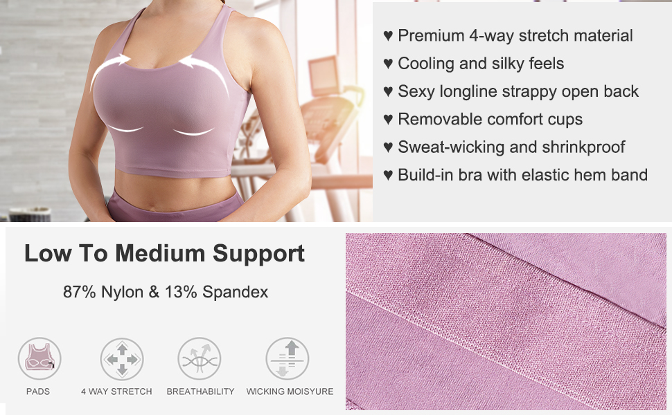 sports bra for women medium support