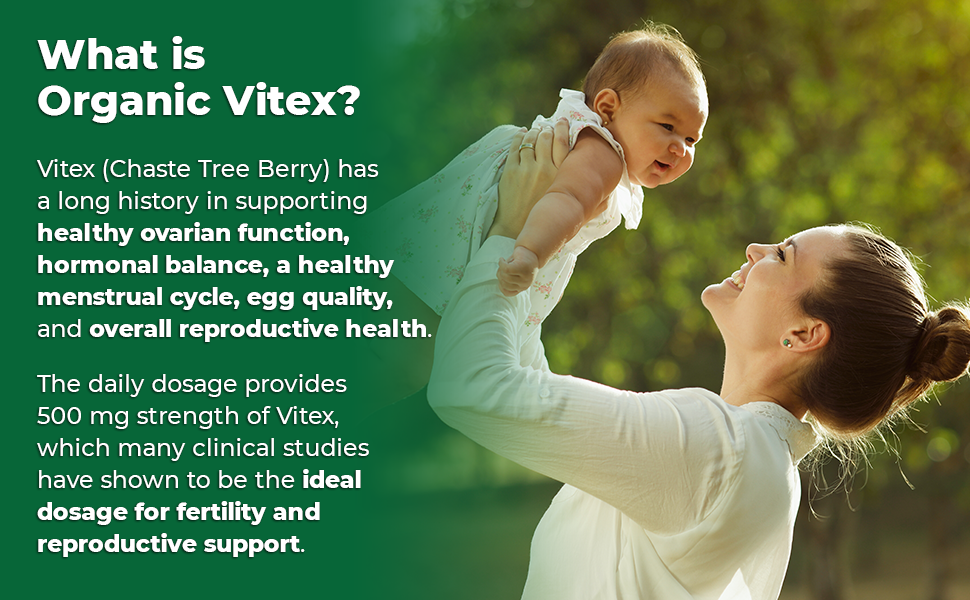 Vitex has a long, proven track record for offering support for fertility and reproductive health..