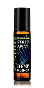 7,500mg Stress Away Roll-On Hemp Essential Oil Blend