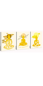 buddha buddah wall art canvas buddhist asian painting pictures poster decor home statues zen frame