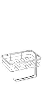Toilet Tissue Paper Holder and Multi-Purpose Shelf - Wall Mount Storage Organizer Regular Metal Wire