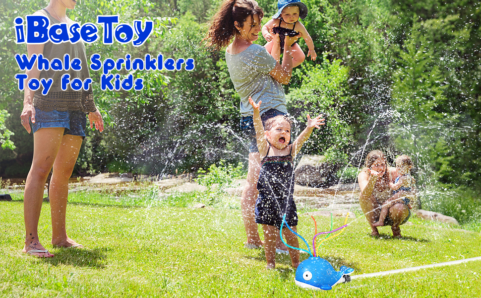 whale sprinklers for kids