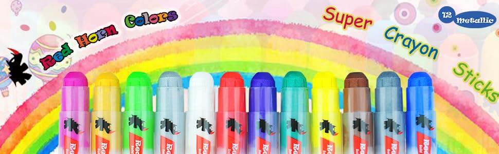 Red Horn Super Crayon Sticks
