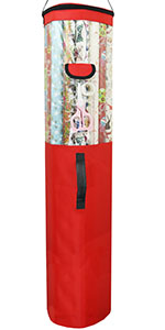 Wrapping paper organizer bag