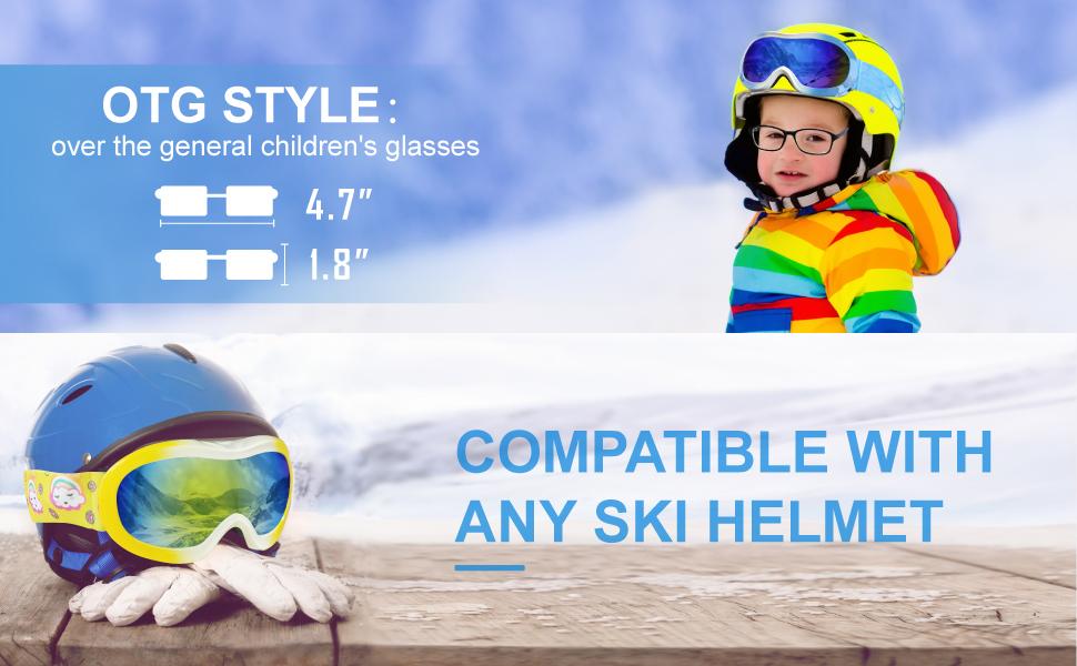 Kids Ski Boy Girl Goggles Snow Snowboard Snowmobile Skate Goggles Children child