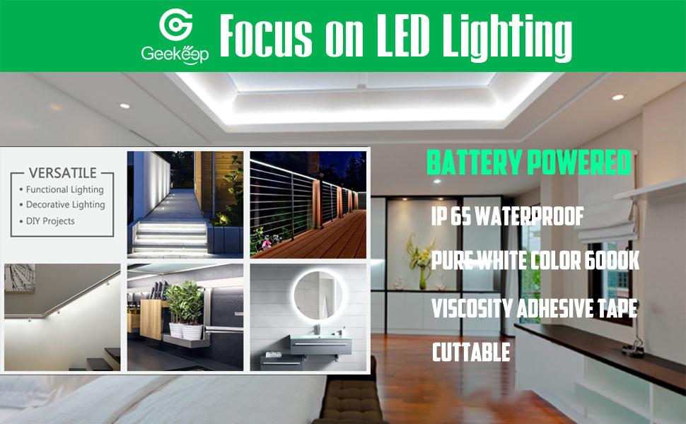 led light strip battery powered