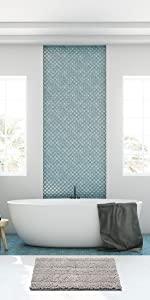 Thick Soft Striped Shaggy Chenille Bath Mats
