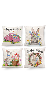 easter decor pillow covers