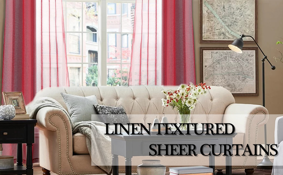 LINEN TEXTURED SHEER CURTAINS