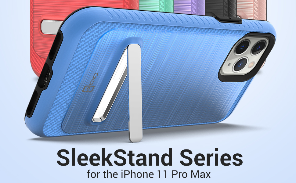 "apple iphone 11 pro max 6.5"" dual layer hybrid protective hard plastic metal kickstand phone case"