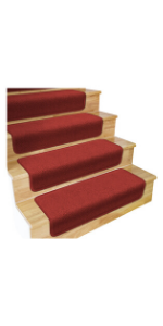 Skid Resistant Overstep Stair Treads House Home and More Brick Red