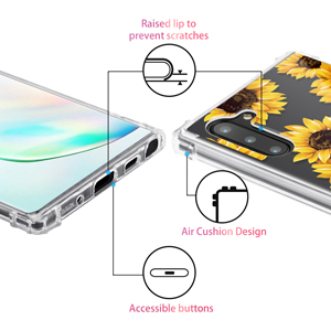 galaxy note10 floral flower clear