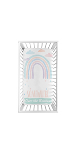 Pastel Rainbow Girl Fitted Crib Sheet Baby or Toddler Bed Nursery Photo Op