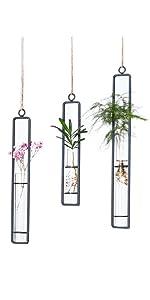 Glass Test Tubes Hanging Vase Planter Different Length Bud Flower Terrarium Container  Decoration
