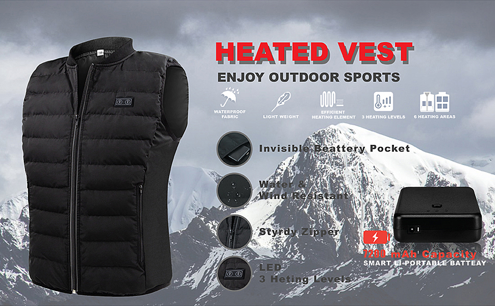FAR INFRARED HEATED VEST,KEEP YOUR BODY WARM WHOLE DAY