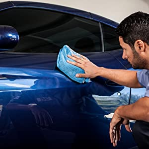 Blue Microfiber Towels For Cars