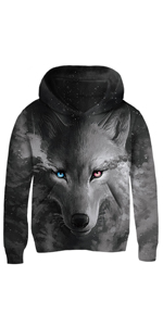 Cool Wolf Kids Hoodies
